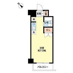 ホワイトメゾンYAMAKI[4階]の間取り
