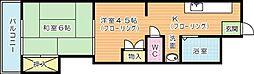 アーバンタイム三郎丸[202号室]の間取り