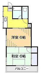 ラデュ—ル国分寺[1階]の間取り