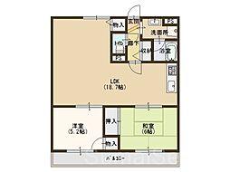 大阪府堺市中区深阪2丁の賃貸マンションの間取り