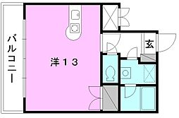 サンライズ豊坂[702 号室号室]の間取り