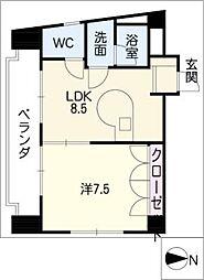 (有)新豊土地ビル[5階]の間取り