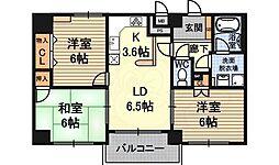 グラントピア新大阪 11階3LDKの間取り
