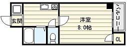新深江ツリガミビルI[2階]の間取り