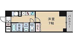 JPレジデンス難波南[5階]の間取り