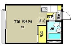 東京都杉並区本天沼1丁目の賃貸アパートの間取り