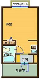 広島県呉市広中迫町の賃貸マンションの間取り