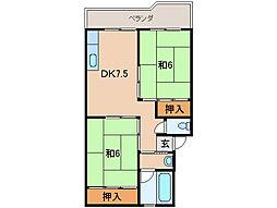 フェリースマンション[1階]の間取り