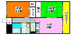 イーストヒル・長田502号室[5階]の間取り