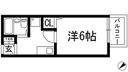 大阪府池田市室町の賃貸アパートの間取り