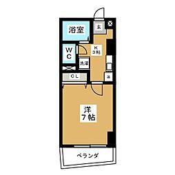 AZUR  TORII[5階]の間取り