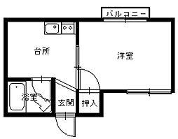 長崎県長崎市出雲1丁目の賃貸アパートの間取り