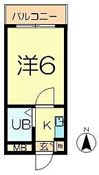 シティパレス東生駒P-3 D[2階]の間取り