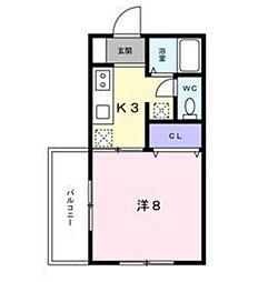 千葉県柏市つくしが丘4丁目の賃貸アパートの間取り