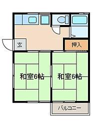 第2ハイツ田村[2階]の間取り