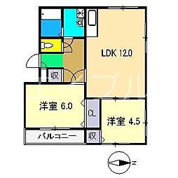 泉野ハイツ[1階]の間取り