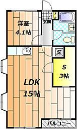 石田ハイツ[3階]の間取り