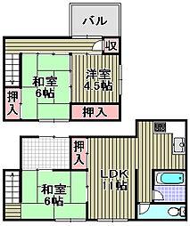 [一戸建] 大阪府泉南市男里4丁目 の賃貸【/】の間取り