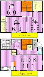 ウィットYAMAKA[102号室]の間取り