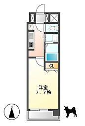 愛知県名古屋市北区黒川本通1の賃貸マンションの間取り