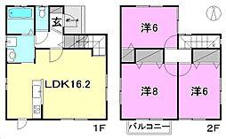 [一戸建] 愛媛県松山市辻町 の賃貸【/】の間取り