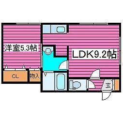 北海道札幌市東区北三十八条東14丁目の賃貸アパートの間取り
