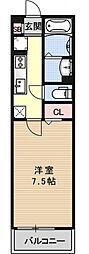 エミネンス西京極[210号室号室]の間取り