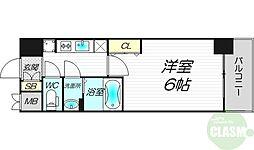 プレサンス新大阪ストリーム 4階1Kの間取り