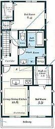 アパートメント妃[2号室]の間取り