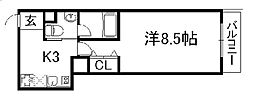 エンブレム京紋[4階]の間取り