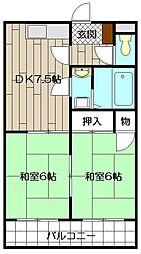 エメラルドマンション砂津 302号[302号室]の間取り