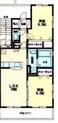 福岡県福岡市東区八田1丁目の賃貸マンションの間取り