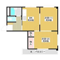 タカラコーポ[2階]の間取り