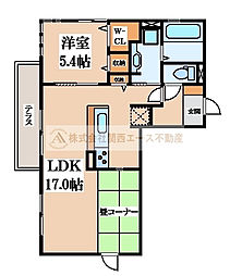 ルナピエーナA棟[3階]の間取り
