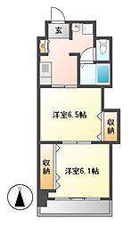 プレステージ名古屋[7階]の間取り