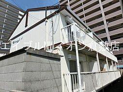 岡山県倉敷市川西町の賃貸アパートの外観