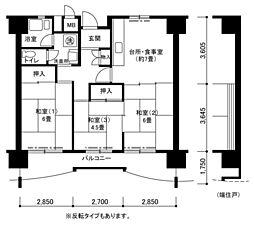 南港しらなみ31棟[4階]の間取り