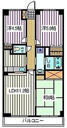 埼玉県さいたま市南区白幡4丁目の賃貸マンションの間取り