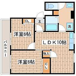 東須磨プラザ[405号室]の間取り