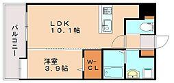 ラフィーネ井尻[6階]の間取り