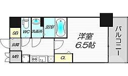 プレサンス梅田北ディア 2階1Kの間取り