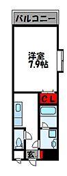 福岡県福津市中央1丁目の賃貸マンションの間取り