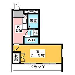 ウイングMARUNO[2階]の間取り