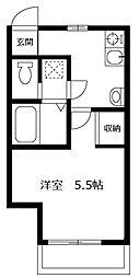 東京都江戸川区二之江町の賃貸アパートの間取り