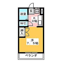 リアナ岐阜弐番館[4階]の間取り