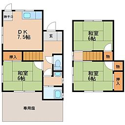 [一戸建] 福岡県大野城市牛頸3丁目 の賃貸【/】の間取り