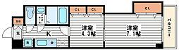セントラル南船場[4階]の間取り