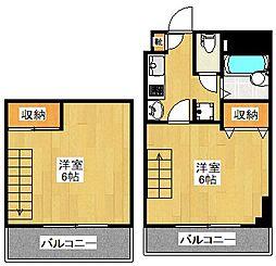 東京都世田谷区三軒茶屋2丁目の賃貸マンションの間取り
