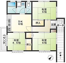 ミリオンショップ2階[2階号室]の間取り