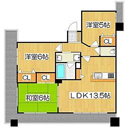 パデシオン京都駅北[206号室]の間取り